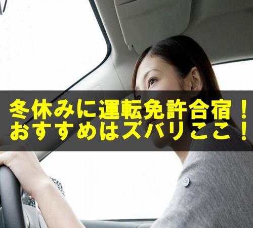 冬休みで取得できる格安の運転免許合宿サイトは?ドリームの口コミは?
